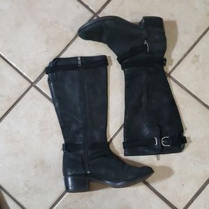 UGG HARINGTON BLACK nubuck WATER PROOF LEATHER BOO
